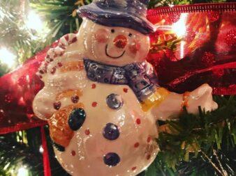 Glass snowman Christams tree decoration