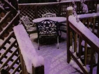 Deck with blanket of snow 2017