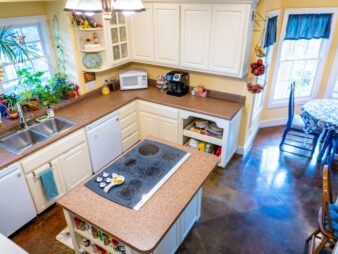 Arial view of the kitchen